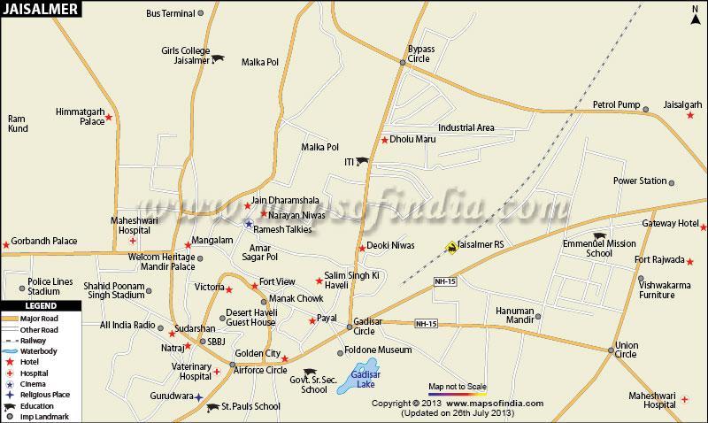 Jaisalmer City Map