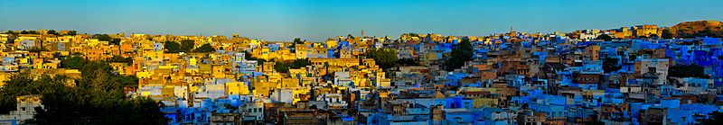 The Blue City of Jodphur at dusk