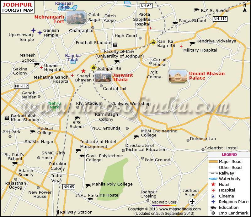 Jodhpur Tourist Map