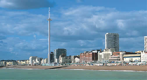 The i360 on the site of the West Pier - artist's drawing