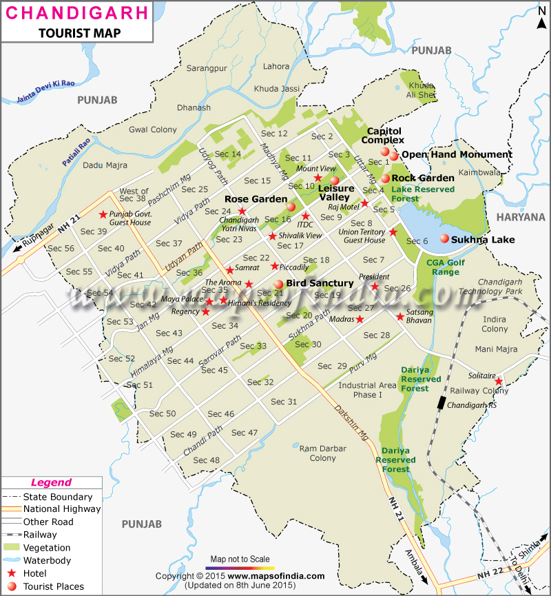 Chandigarh Travel Map